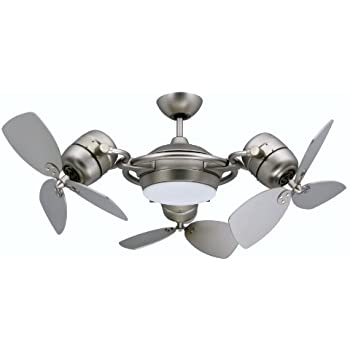 Tristar triple motor ceiling fan with 3x18 inch blades light and tristar triple motor ceiling fan with 3x18 inch blades light and remote satin aloadofball Choice Image