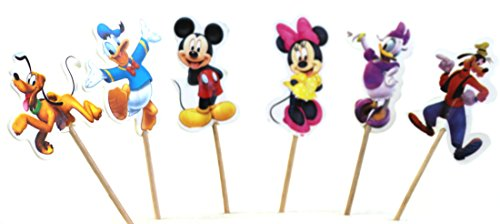 Mickey Mouse ClubHouse Character Cupcake Toppers Supplies for Children's Birthday Party Decorations - Cupcake Liners Included ()