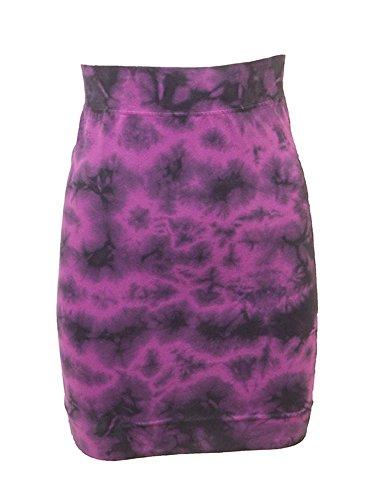Hard Tail Junior Pencil Skirt Pink Tiedye Juniors (Hardtail Tie Dye)