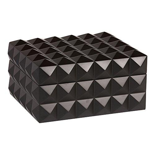 Ethan Allen Black Studded Box