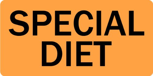 Special Diet - Veterinary Label / Stickers, 500 labels per roll, 1 roll per package