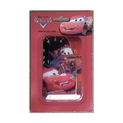 (Disney Pixar Cars Lighting McQueen Switchplate Cover - Kids Nursery Bedroom Playroom Decor Light Switch Plate )