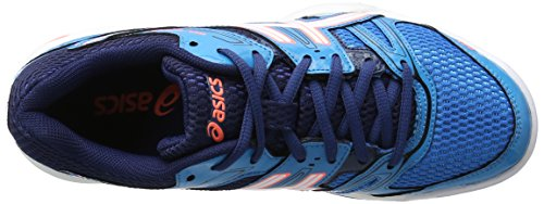 Mujer White Asics Flash Voleibol de para Azul 7 Coral Blue Gel Rocket Jewel Zapatillas 0x01SgT