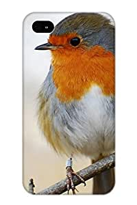 Fashion Xkgimz-2314-vuupleb Case Cover Series For Iphone 4/4s(animal Robin Bird)