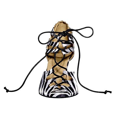 toe Peep Shoes Schuhe Salsa Ballroom Dance Latin Women's with Ballroom Latin 3 3 Salsa Sandalen Misu 3 Sandals Toe Frauen Misu 3 mit Peep Tango Dance Praxis Tango Practice qxTT4a