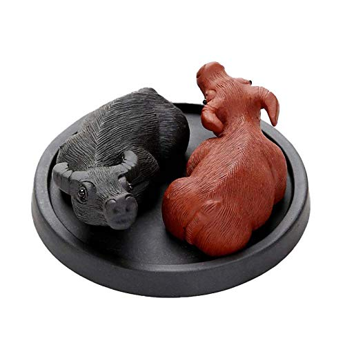 Yixing Tea Pet Rat  Generations Money donfohy21 Paragraph mud Yixing tea pet tea play tea set handmade home ceremony Rat Zodiac cow creative ornaments