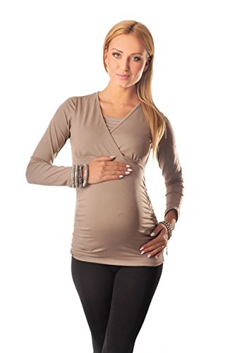 Purpless Maternity 2in1 Maternidad y de Enfermería Parte Superior 7007 Cappuccino