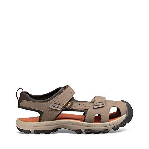 (Teva Boys' Y Hurricane Toe PRO Sport Sandal, Walnut, 5 M US Big Kid)
