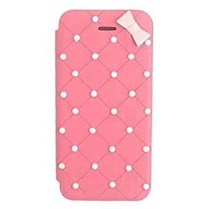 Elegant Bowknot Leather Case for iPhone 5/5S(Assorted Color) , Red