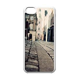 Cool iPhone 5C White Case,Stone Road Macro Customized Hard Back Case for iPhone 5C iPhone 5Cs