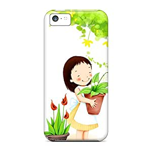 Premium Protection Liitle Girl Smiling Case Cover For Iphone 5c- Retail Packaging