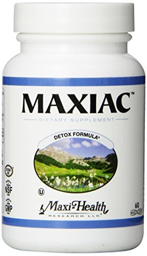 Red Clover Detox - Maxi Health Maxiac - Detox Formula - Burdock Root and Red Clover - 60 Capsules - Kosher by Maxi-Health