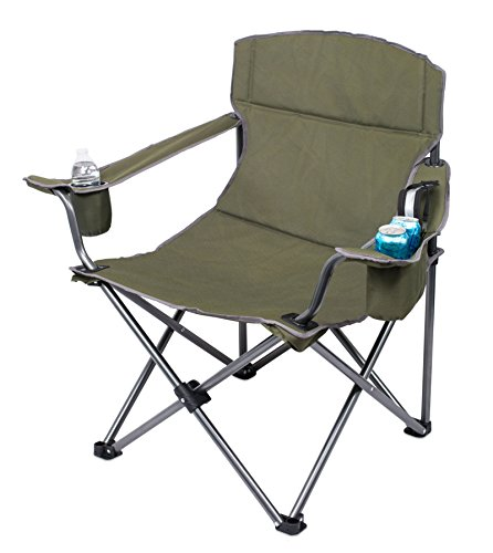 Internet's Best XL Padded Camping Folding Chair | Cooler Bag