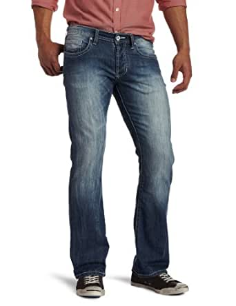 Buffalo David Bitton Men's King Slim Bootcut Jean in Veined/Stone Faded
