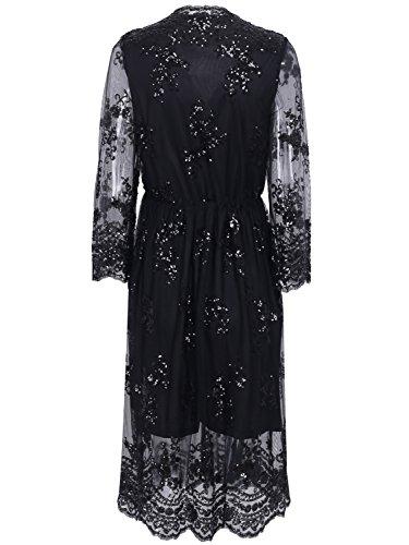 3 Manches Apparel Femme Simplee Robe Noir 4 n4fqqFx