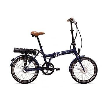 Bicicleta eléctrica plegable o2feel Peps alto, azul