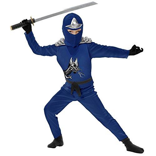Ninjago Green Ninja Costumes Child (Ninja Avenger II with Armor, Blue, Child XL)