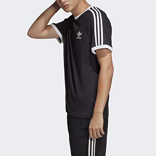 adidas Originals Men's 3-Stripes Tee,  Black, Medium