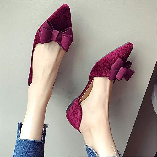 40 Suave Trabajo Zapatos 40 Zapatos Anudada Moda FLYRCX Embarazada señoras de Zapatos Solos Fondo UE Casual de de Zapatos de Planos cómodos EU Mariposa Mujer YzwxU1xg