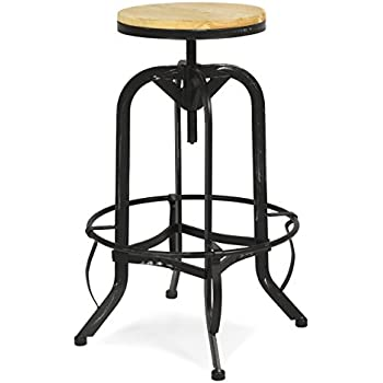 this item best choice products vintage bar stool industrial metal design wood top adjustable height swivel style stools with backs uk b