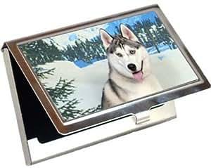Amazon Siberian Husky Business Card Credit Card