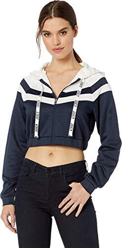 Juicy Couture Women's Color Block Tricot Jacket Regal/Bleached Bon Medium ()