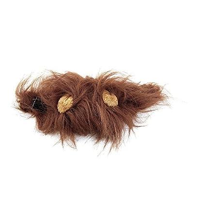 Lovelysunshiny Disfraz de Mascota Lion Mane Peluca para Gato Disfraz de Halloween  Fiesta de Halloween con 2664bab02bb4