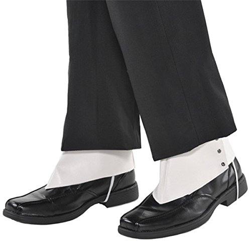 Amscan Roaring '20s Costume Party Gangster Spats - Adult, White, One Size