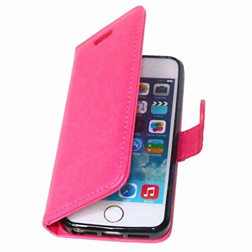 LEMORRY iphone 5 5s Flip Coque Etui, Unique Soft TPU Core + PU Cuir Portefeuille [Slot pour Carte] & [Cadre] Rabat Stand Magnétique Housse Fermeture Protecteur Bumper Pochette Rose
