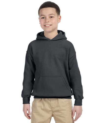 Gildan Boys 7.75 oz. Heavy Blend? 50/50 Hood (G185B) -CHARCOAL -S