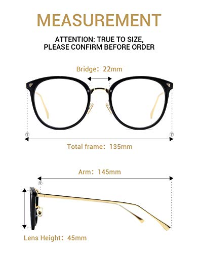 eb24a16649b TIJN Women Retro TR90 Metal Round Glasses Frame Optical Rx-able Eyeglasses -Maaike