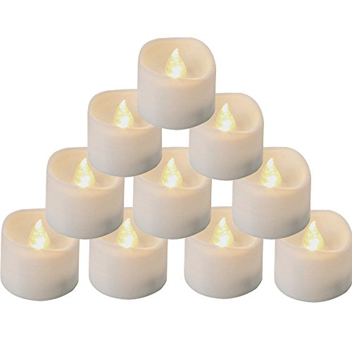 Homemory Battery Tea Lights with Timer, 6 Hours on and 18 Hours Off in 24 Hours Cycle Automatically, Pack of 12 Timing LED Candle Lights in Warm White]()
