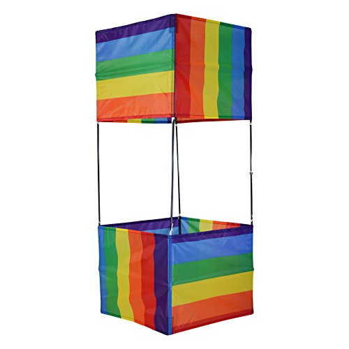 In the Breeze Rainbow Stripe Box Kite by In the Breeze