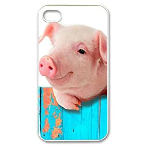 Iphone 4,4S Funny Piggy Phone Back Case Personalized Art Print Design Hard Shell Protection TY091744