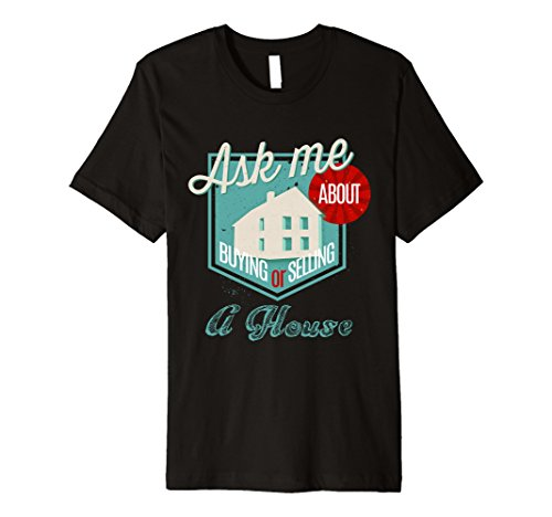 Mens Selling Or Buying A House Tee Real Estate Agent Realtor Gift Xl Black