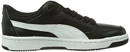 Puma - Rebound V2 Lo Jr, Sneakers bambini e ragazzi, color Nero (Black/White/Limoges), talla 28 EU