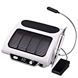 3 in 1 Nail Dust Collector, Nail Drill Machine, AZ GOGO 30000RPM Professional Salon Electric E File Nail Drill with LED Lamp and Nail Drill Bits for Acrylic Gel Nails,Manicure,Nail Jewelry,Calluses