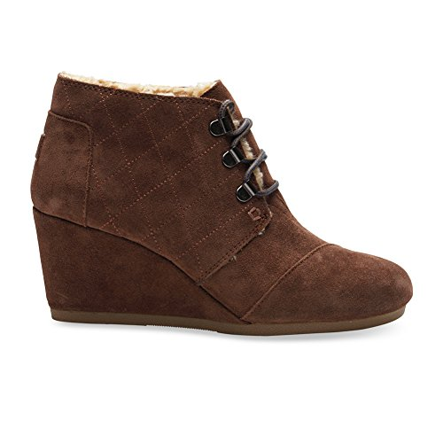 Wedge Chocolate Brown Suede w/Shearling Boot 11 B (M) ()