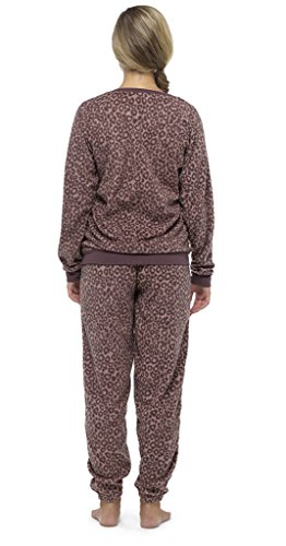 Ladies Brown Bear polaire Twosie pyjamas