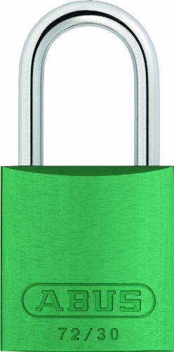 ABUS 72/30 KD Safety Lockout Aluminum Keyed Different Padlock, Green by ABUS