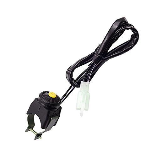 Jili Online 7/8(22mm) Kill Stop Handlebar Switch Horn Button for Motorcycle Bike Quad ATV Blue