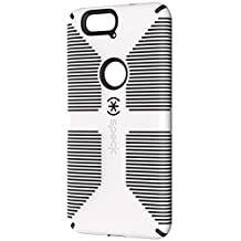 Speck Products CandyShell Grip Cell Phone Case for Google Nexus 6P Smartphone - Retail Packaging - White/Black