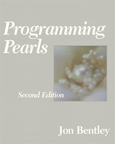 Programming pearls 2nd edition jon bentley 0785342657883 programming pearls 2nd edition 2nd edition fandeluxe Image collections