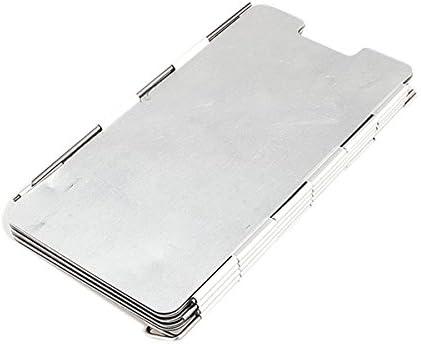 Noyokere 9 Placas Deflectores de Viento Plegable Acampar al Aire Libre Cocina Cocina Gas Estufa Escudo de Viento Pantallas de Plata