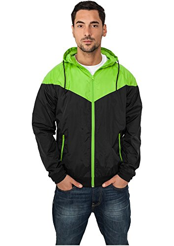 Urban Classics Arrow Windrunner Jacke black-limegreen - XXL