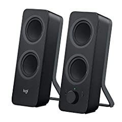 Enjoy rich stereo sound at your desk from Logitech Z207 Bluetooth computer speakers.