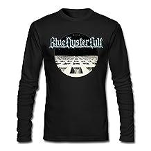 GOOOET Men's Blue Oyster Cult BOC Band Long Sleeve Shirt