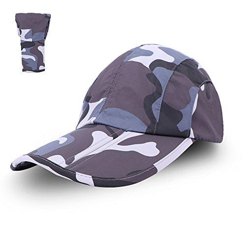Anyoo 折り畳み式の野球帽の帽子グレートサンプロテクションスポーツ旅行サンハットアジャスタブルベルクロコンパクト通気性、クイックドライユニセックスパーフェクトアウトドア釣りゴルフを実行するための