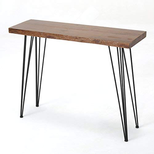 Aneissa Industrial Faux Live Edge Rectangular Bar Table, Natural by Christopher Knight Home (Image #4)