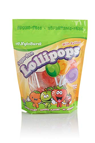 Focus Nutrition, Xyloburst, Sugar-Free Xylitol Lollipops, Assorted Flavors, Dentist Recommended - 25 Count]()